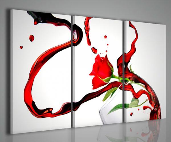 Quadri moderni quadri food drink rose wine arredamento for Stampe arredamento moderno
