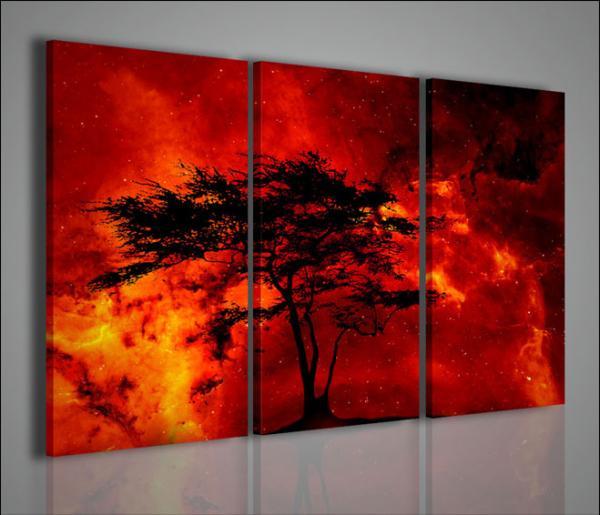 Quadri moderni quadri astratti tree and fire arredamento for Immagini quadri moderni astratti