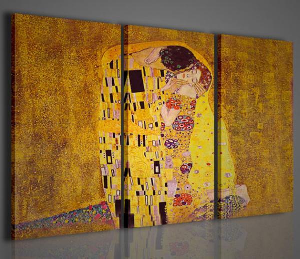 Quadri moderni quadri pittori famosi klimt i il bacio for Quadri astratti famosi