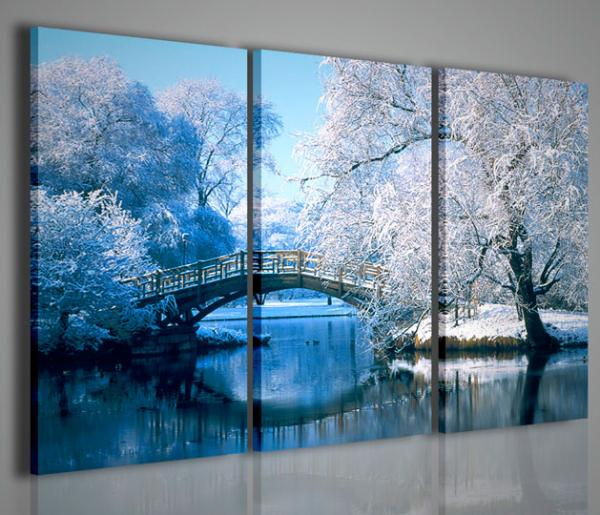 Quadri Moderni-Quadri di Natura e Paesaggi-Winter Scenary I ...