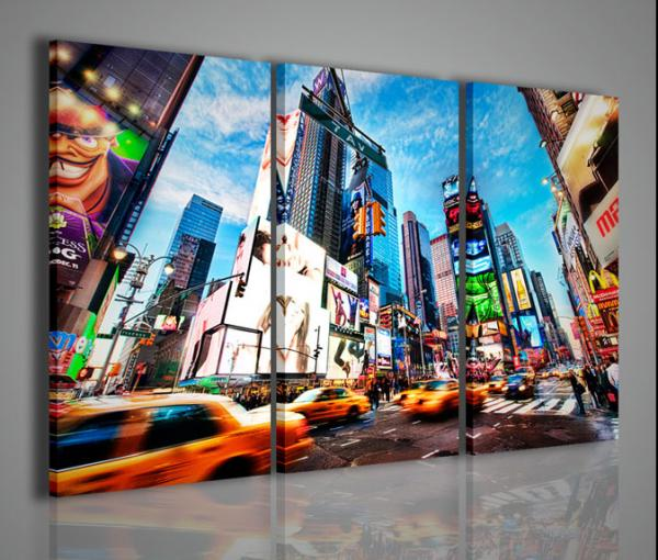 Quadri moderni quadri di citt new york times square iv for Arredamento amazon