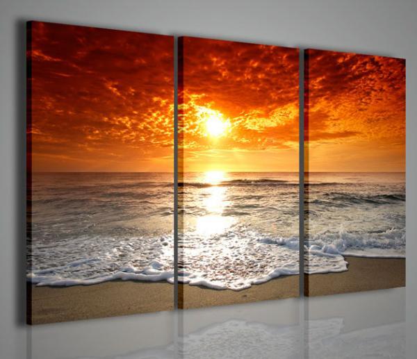 Quadri moderni quadri di natura e paesaggi red sun for Stampe arredo casa