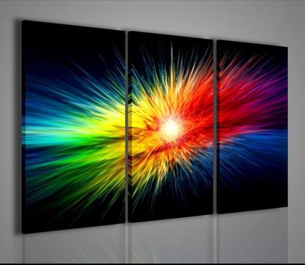 Quadri moderni quadri astratti explosion of color for Quadri astratti immagini
