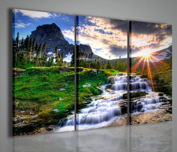 Quadri moderni quadri di natura e paesaggi waterfall iii for Arredamento natura
