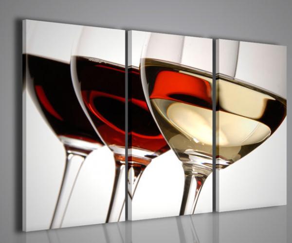 Quadri moderni quadri food drink tris wine color for Stampe arredamento moderno