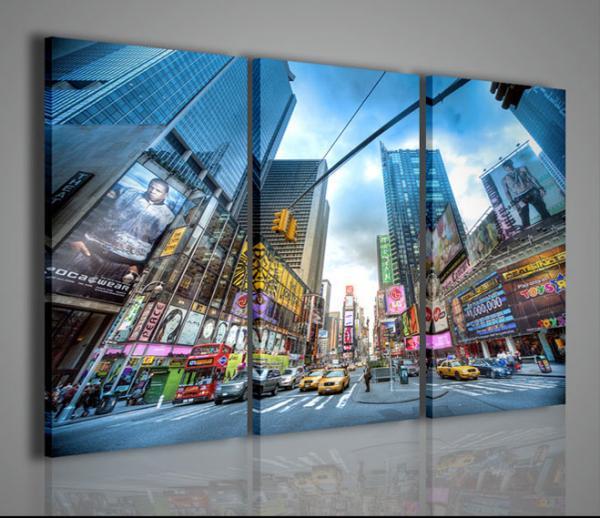 Quadri moderni quadri di citt new york times square ii for Stampe moderne per soggiorno