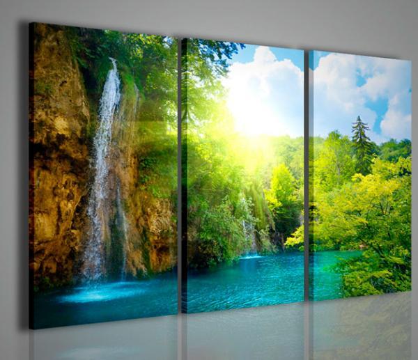 Quadri moderni quadri di natura e paesaggi waterfall i for Arredamento natura